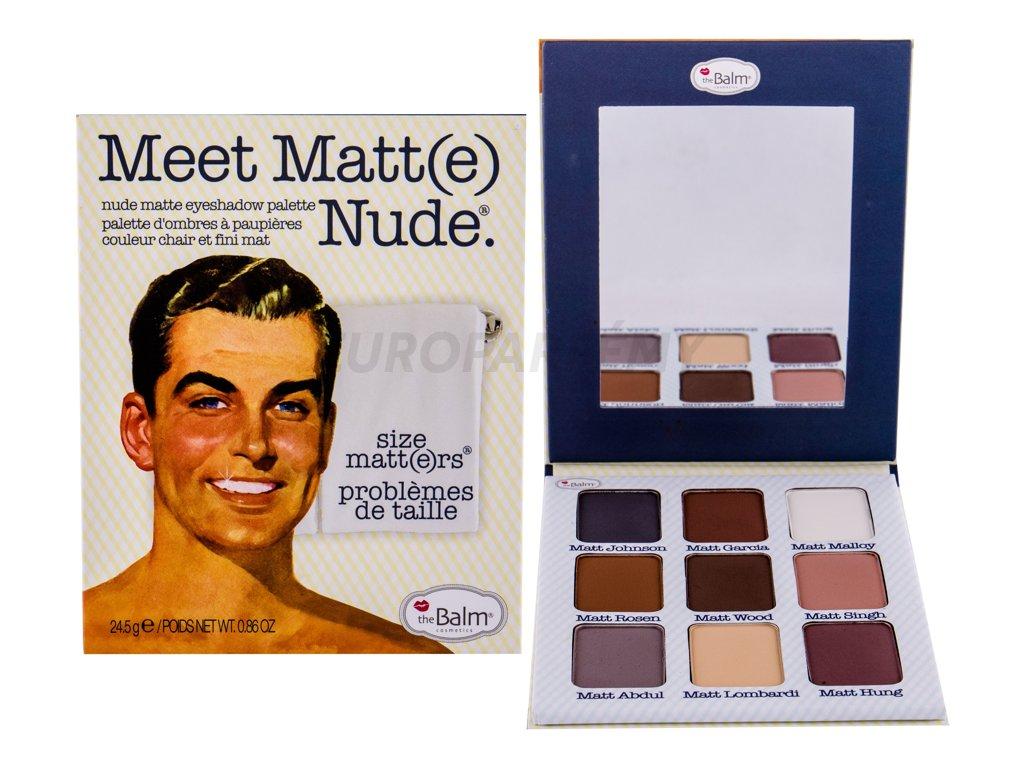 TheBalm Meet Matt(e) Nude Matte Eyeshadow Palette - Paleta