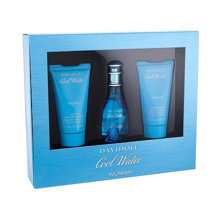 Davidoff Cool Water sada toaletní voda 30 ml + sprchový gel 50 ml + tělové mléko 50 ml pro ženy