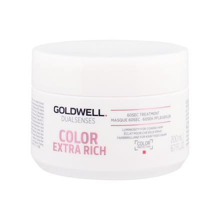 Goldwell Dualsenses Color Extra Rich 60 Sec Treatment maska na vlasy na hrubé vlasy 200 ml pro ženy