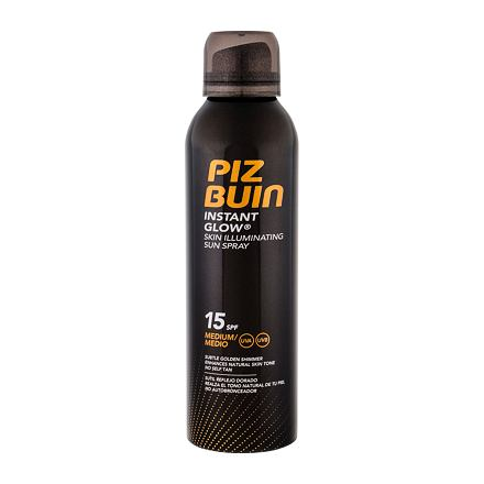 PIZ BUIN Instant Glow Spray voděodolný sprej na opalování SPF15 150 ml pro ženy