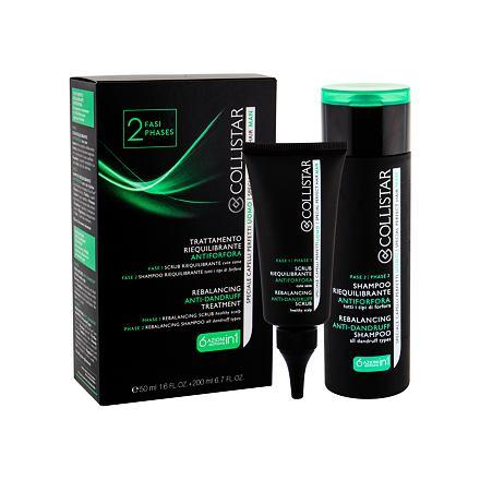 Collistar Men Anti-Dandruff sada peeling na pokožku hlavy 50 ml + šampon 200 ml pro muže