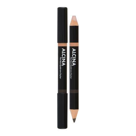 ALCINA Perfect Eyebrow oboustranná tužka na obočí 3 g odstín 020 Dark pro ženy