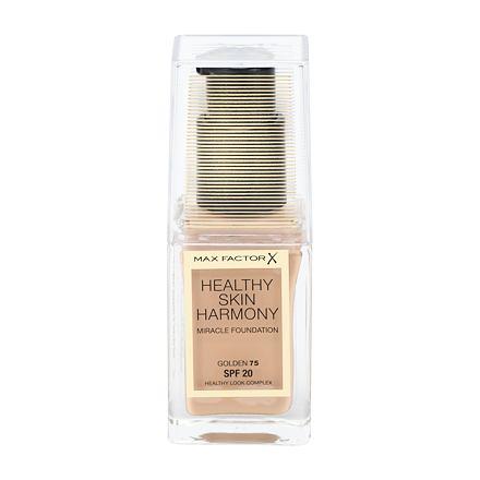 Max Factor Healthy Skin Harmony rozjasňující tekutý make-up SPF20 30 ml odstín 75 Golden pro ženy
