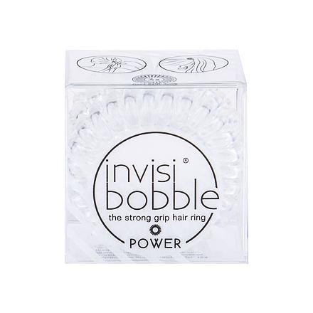 Invisibobble Power Hair Ring gumička na vlasy 3 ks odstín Crystal Clear pro ženy