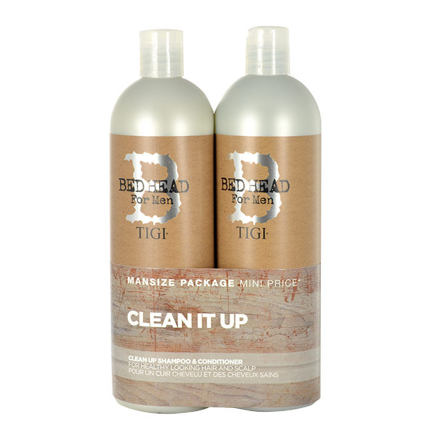Tigi Bed Head Men Clean Up sada šampon 750 ml + kondicionér 750 ml pro muže