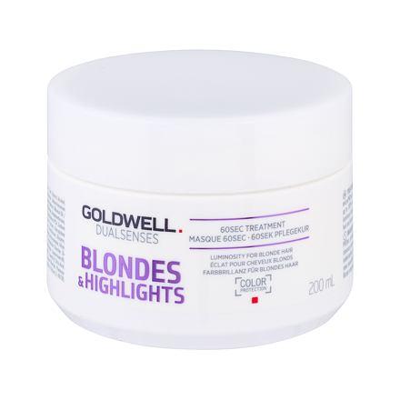 Goldwell Dualsenses Blondes Highlights 60 Sec Treatment maska na vlasy na blond vlasy 200 ml pro ženy