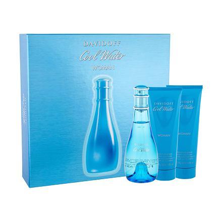Davidoff Cool Water sada toaletní voda 100 ml + tělové mléko 75 ml + sprchový gel 75 ml pro ženy