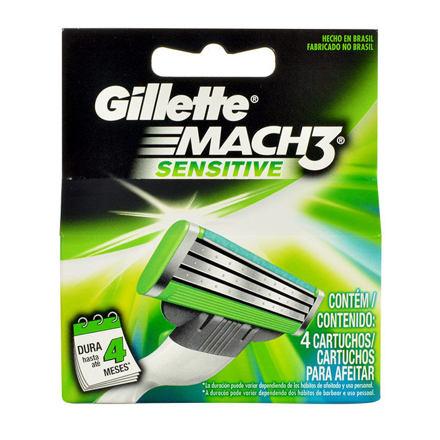 Gillette Mach3 Sensitive náhradní břit 4 ks pro muže