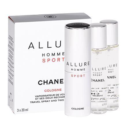 Chanel Allure Homme Sport Cologne kolínská voda twist and spray 3x20 ml pro muže