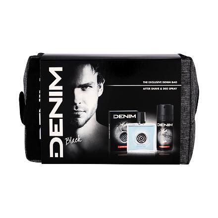 Denim Black sada voda po holení 100 ml + deodorant 150 ml + kosmetická taška pro muže