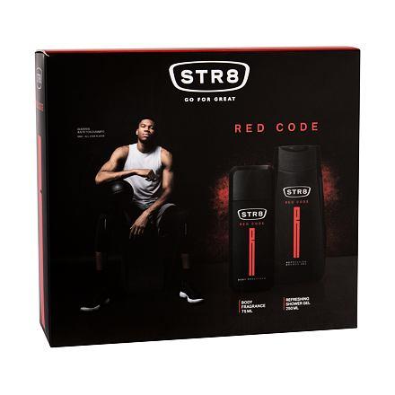 STR8 Red Code sada deodorant 75 ml + sprchový gel 250 ml pro muže