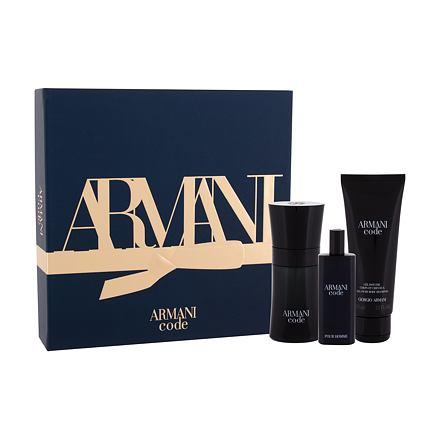 Giorgio Armani Armani Code Pour Homme sada toaletní voda 50 ml + sprchový gel 75 ml + toaletní voda 15 ml pro muže