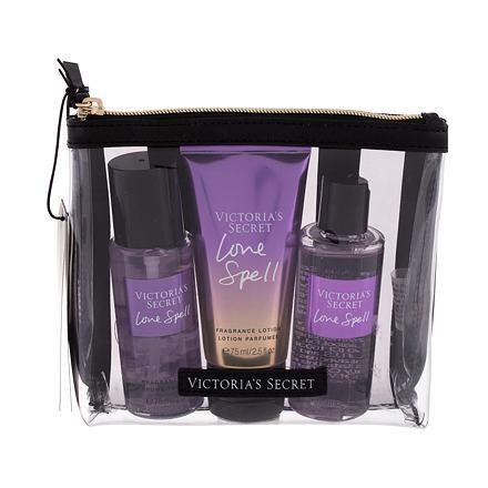 Victoria´s Secret Love Spell sada vyživující tělový spray 75 ml + tělové mléko 75 ml + sprchový gel