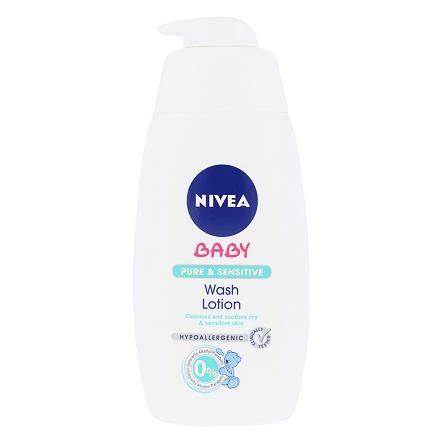 Nivea Baby Pure & Sensitive Wash Lotion čisticí gel 500 ml pro děti
