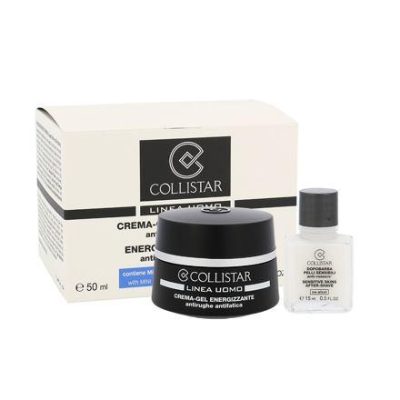 Collistar Men Energizing Cream-Gel sada Men Energizing Cream-Gel 50 ml + After-Shave Balm Sensitive Skin 15 ml pro muže