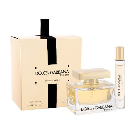 Dolce&Gabbana The One sada parfémovaná voda 75 ml + parfémovaná voda 7,4 ml pro ženy