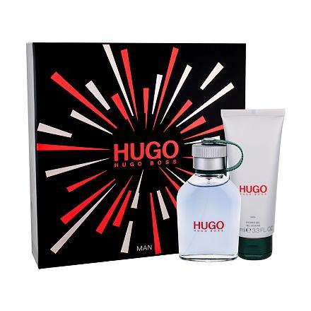 HUGO BOSS Hugo Man sada toaletní voda 75 ml + sprchový gel 100 ml pro muže