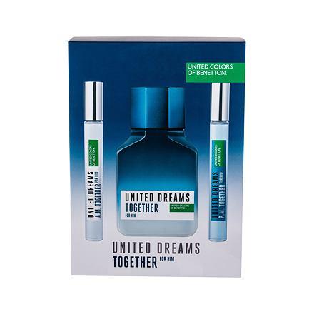 Benetton United Dreams Together sada toaletní voda 100 ml + toaletní voda United Dreams Together A.M. 10 ml + toaletní voda United Dreams Together P.M. 10 ml pro muže