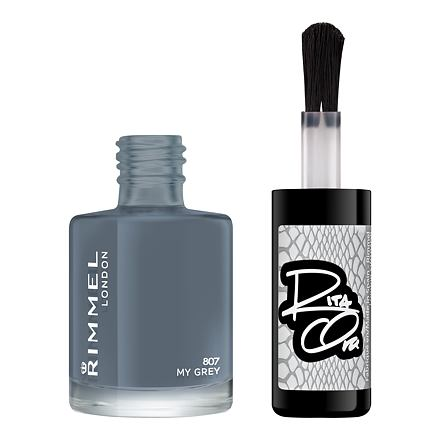 Rimmel London 60 Seconds By Rita Ora lak na nehty 8 ml odstín 807 My Grey pro ženy