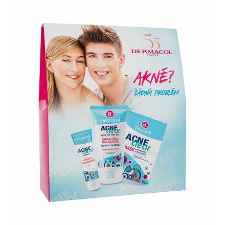 Dermacol AcneClear sada pleťový gel-krém AcneClear 50 ml + čisticí gel AcneClear 150 ml + pleťová maska AcneClear 2 x 8 g pro ženy