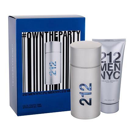 Carolina Herrera 212 NYC Men sada toaletní voda 100 ml + gel po holení 100 ml pro muže