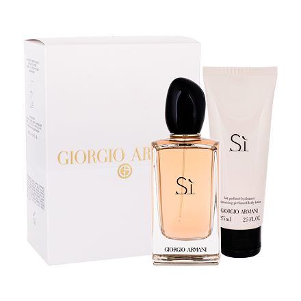 Giorgio Armani Sì sada parfémovaná voda 100 ml + tělové mléko 75 ml pro ženy