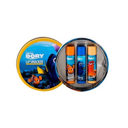 Lip Smacker Disney Finding Dory sada balzám na rty 3 x 4 g + plechová krabička pro děti