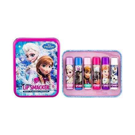 Lip Smacker Disney Frozen Lip Balm sada balzám na rty 6 x 4 g + plechová dóza pro děti