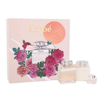 Chloé Chloé sada parfémovaná voda 75 ml + tělové mléko 100 ml + parfémovaná voda 5 ml pro ženy