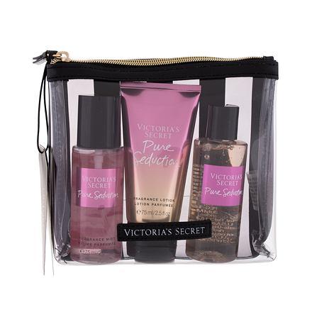 Victoria´s Secret Pure Seduction sada vyživující tělový spray 75 ml + tělové mléko 75 ml + sprchový gel 89 ml + kosmetická taštička pro ženy