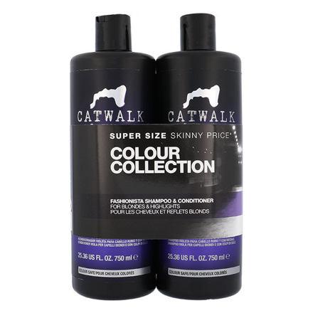 Tigi Catwalk Fashionista Violet sada šampon 750 ml + kondicionér 750 ml pro ženy