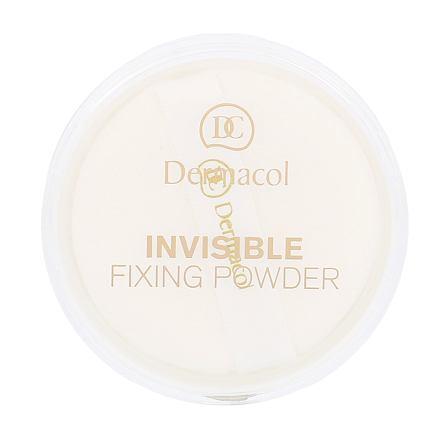 Dermacol Invisible Fixing Powder transparentní fixační pudr 13 g odstín White pro ženy