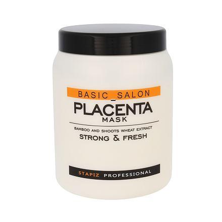 Stapiz Basic Salon Placenta maska pro hydrataci a pružnost vlasů 1000 ml pro ženy