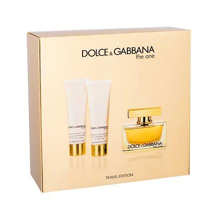 Dolce&Gabbana The One sada parfémovaná voda 75 ml + tělové mléko 50 ml + sprchový gel 50 ml pro ženy