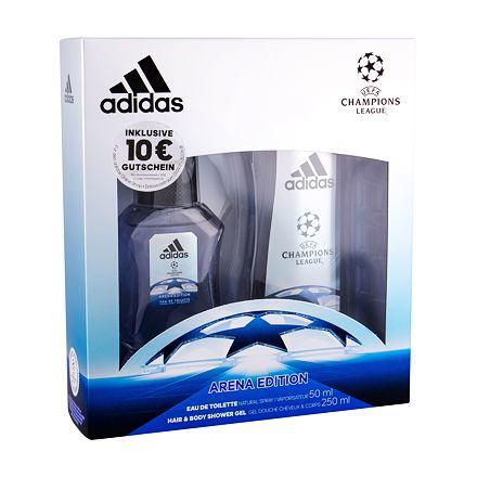 Adidas UEFA Champions League Arena Edition sada toaletní voda 50 ml + sprchový gel 250 ml pro muže