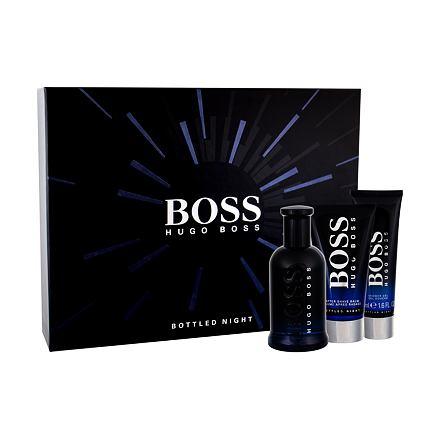 HUGO BOSS Boss Bottled Night sada toaletní voda 100 ml + balzám po holení 75 ml + sprchový gel 50 ml pro muže
