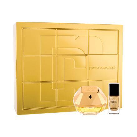 Paco Rabanne Lady Million sada parfémovaná voda 50 ml + lak na nehty 9 ml pro ženy