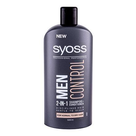 Syoss Professional Performance Men Control 2-in-1 šampon a kondicionér v jednom pro normální a suché vlasy 500 ml pro muže