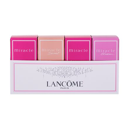 Lancôme Miracle Collection sada parfémovaná voda Miracle 2x 5 ml + parfémovaná voda Miracle Secret 5 ml + parfémovaná voda Miracle Blossom 5 ml pro ženy