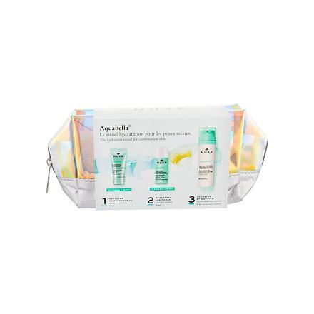 NUXE Aquabella Beauty-Revealing sada hydratační emulze 50 ml + čisticí gel 15 ml + pleťová voda 35 ml + kosmetická taštička pro ženy