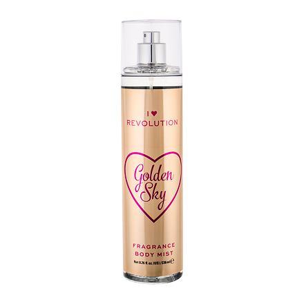 Makeup Revolution London I Heart Revolution Golden Sky rozjasňující tělový sprej 236 ml pro ženy