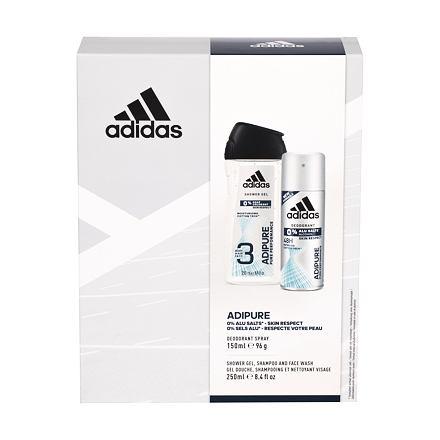 Adidas Adipure 48h sada deodorant 150 ml + sprchový gel 250 ml pro muže