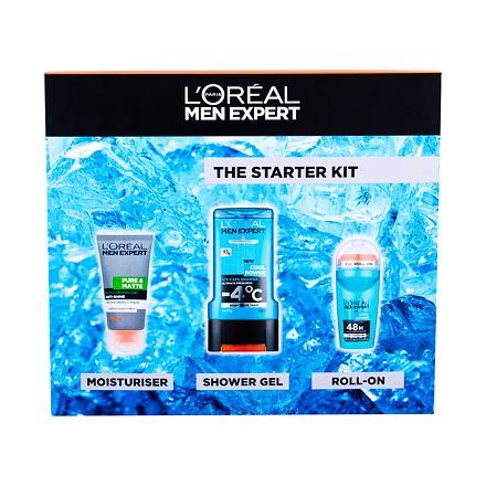 L´Oréal Paris Men Expert Pure & Matte sada hydratační gel Pure & Matte 50 ml + sprchový gel Cool Power 300 ml + deodorant Roll-on Cool Power 50 ml pro muže