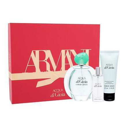 Giorgio Armani Acqua di Gioia sada parfémovaná voda 100 ml + tělové mléko 75 ml + parfémovaná voda 15 ml pro ženy