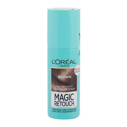 L´Oréal Paris Magic Retouch Instant Root Concealer Spray sprej pro zakrytí odrostů 75 ml odstín Brown pro ženy