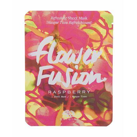Origins Flower Fusion Raspberry osvěžující plátýnková pleťová maska 1 ks pro ženy
