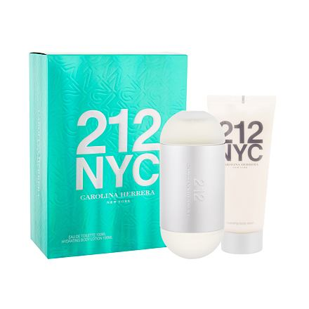 Carolina Herrera 212 NYC sada toaletní voda 100 ml + tělové mléko 100 ml pro ženy