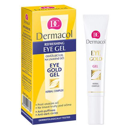 Dermacol Eye Gold osvěžující gel na unavené oči 15 ml pro ženy