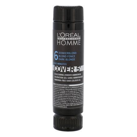 L´Oréal Professionnel Homme Cover 5´ barva na vlasy 3x50 ml odstín 6 Dark Blond pro muže