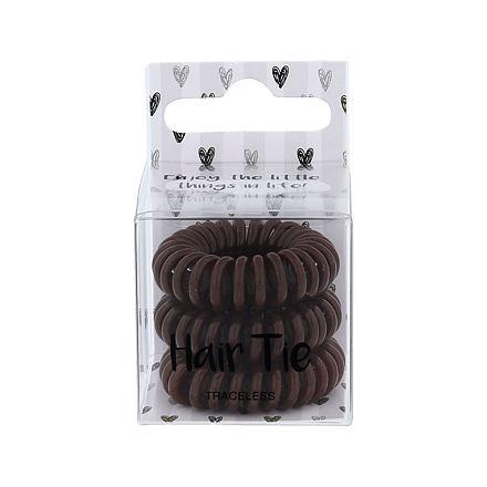 2K Hair Tie spirálovité gumičky do vlasů 3 ks odstín Brown pro ženy